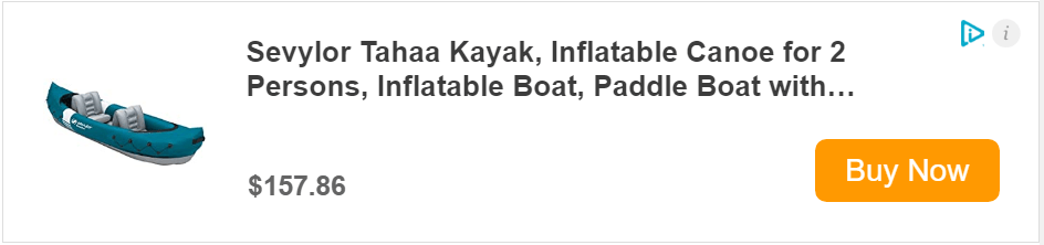 Sevylor inflatable boat with motor