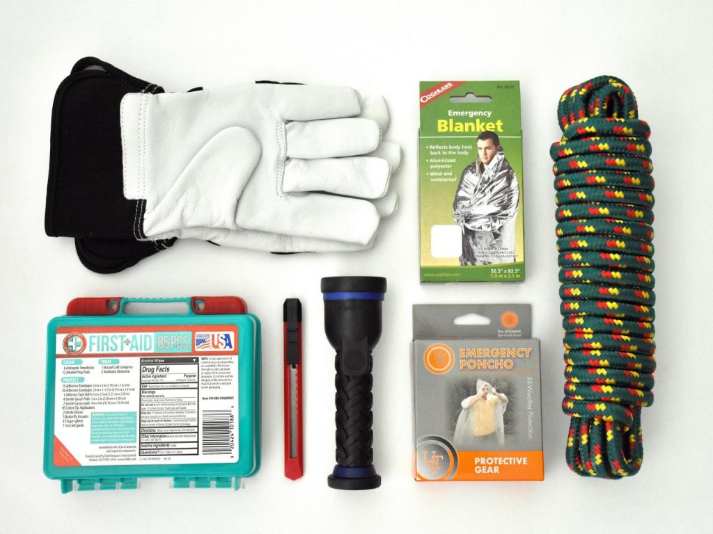 What should be in a tsunami survival kit
